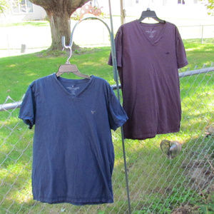 2 for 1 L navy & burgundy- American Eagle Legend T